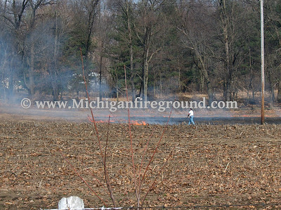 4/7/08 - Rives-Tompkins Twp field fire, 10827 Churchill
