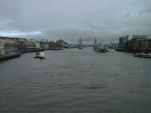 Iconic view of  Tower Bridge