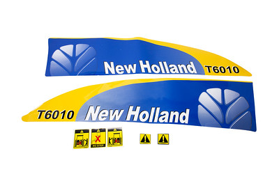FORD NEW HOLLAND T6010 SERIES BONNET DECAL SET
