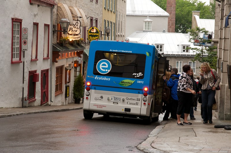 Electric bus. Quebec City, Canada