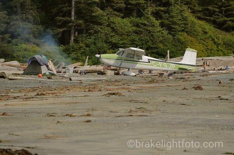 Airplane on the Beach near Calvin Creek