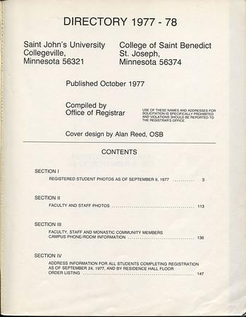 CSBSJU Student Directory 77-78