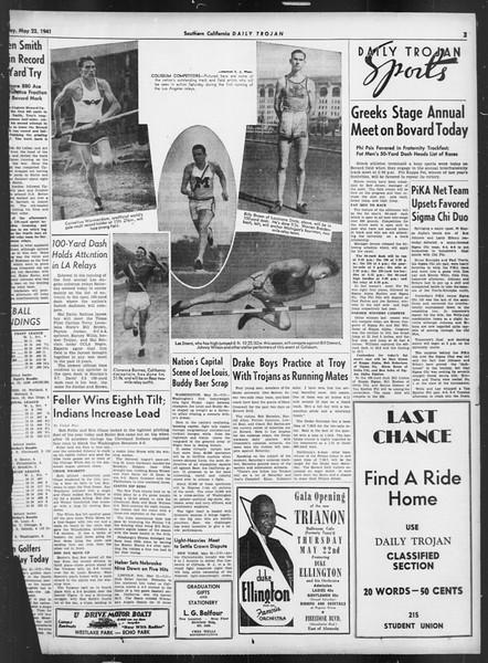 Daily Trojan, Vol. 32, No. 147, May 22, 1941