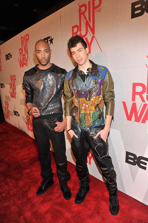 . Models Dre King and Cole Cook attend BET\'s Rip The Runway 2013:Red Carpet at Hammerstein Ballroom on February 27, 2013 in New York City.  (Photo by Stephen Lovekin/Getty Images for BET\'s Rip The Runway)