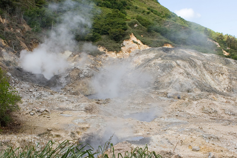 Just like the departure tax, everyone who visits St Lucia has to experience the drive in volcano
