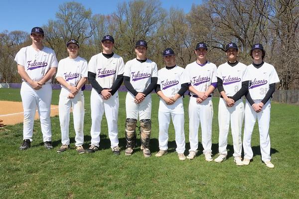April 16 2019 Baseball Team Group shot, Capts, Senior Group, Individual Mug shots on entire team, pics by R. DeBoer
