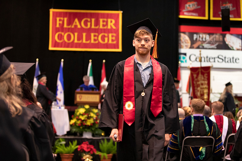 Flagler College's winter commencement in the gymnasium Saturday morning, December, 15, 2018. Daron Dean/Flagler College