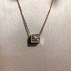 .70ct French Cut Diamond Bezel Pendant, 18kt Yellow Gold 10