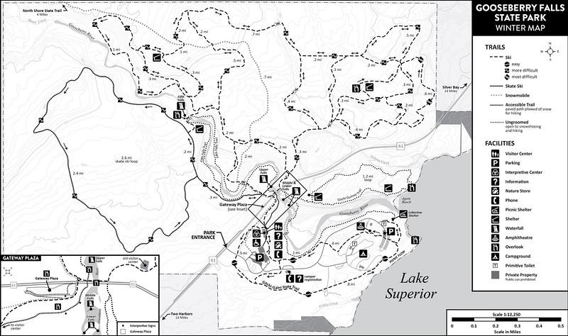 Gooseberry Falls State Park (Winter Map)