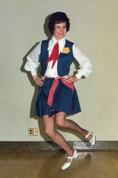 Violet Marsh, instructor for the Diablo Mountain Cloggers from 1974-1976.