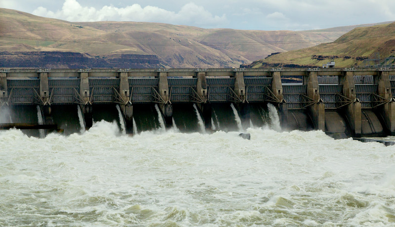 We cross the Columbia just downstream of the John Day Dam.