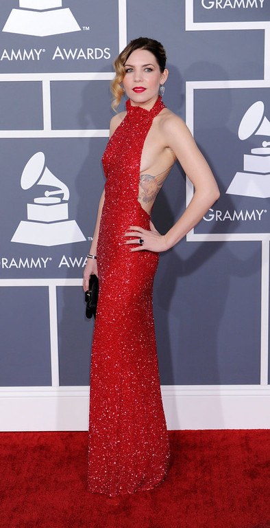 . Skylar Grey arrives to  the 55th Annual Grammy Awards at Staples Center  in Los Angeles, California on February 10, 2013. ( Michael Owen Baker, staff photographer)