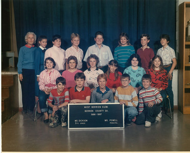 West Berrien School - 1986-87