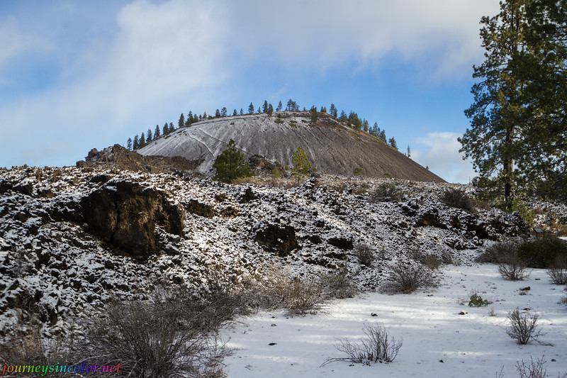 Snowy Winter Day at Newbery Volcano