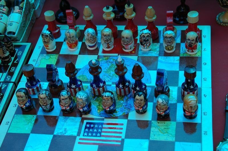 Russian-USA Chess Board - Yerevan, Armenia