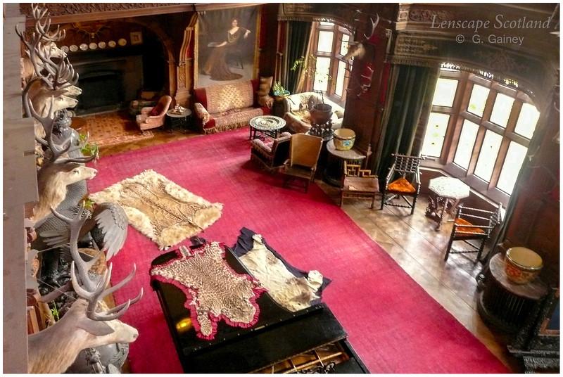 Kinloch Castle interior - grand hall