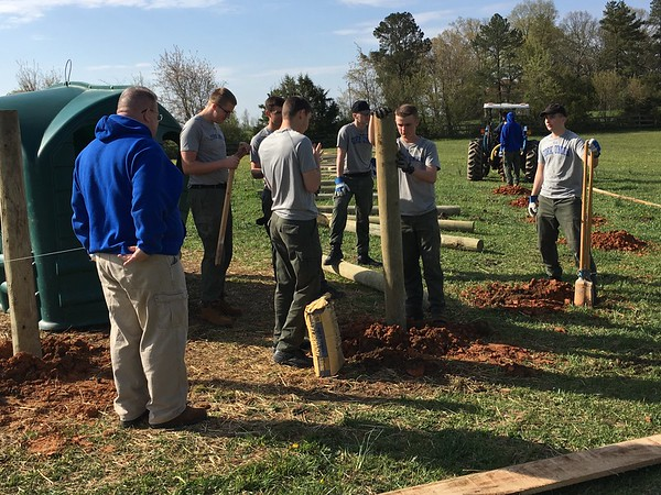 Applied Christianity Class Members Volunteer at Horse Rescue Farm