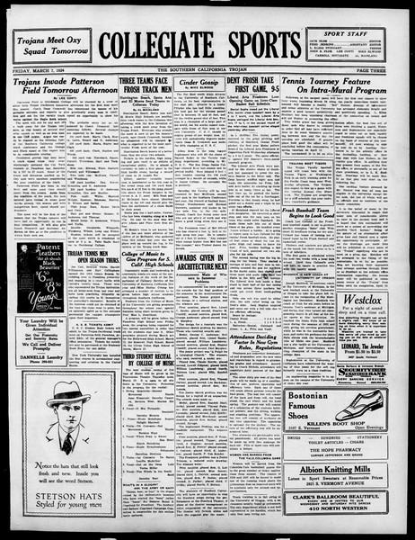 The Southern California Trojan, Vol. 15, No. 59, March 07, 1924
