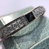 Vintage Onyx and Antique Diamond Bangle 3