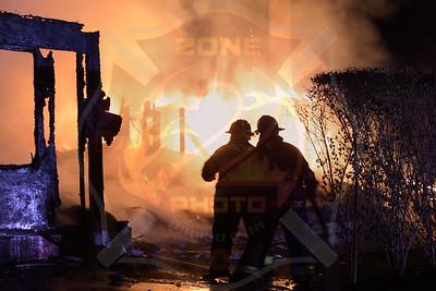 Westbury F.D. Working Fire   Post Road(Glen Oaks Country Club) 10/22/17