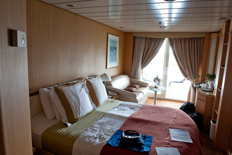 Our stateroom and doorway to the balcony. We were on the 9th deck, near the top.