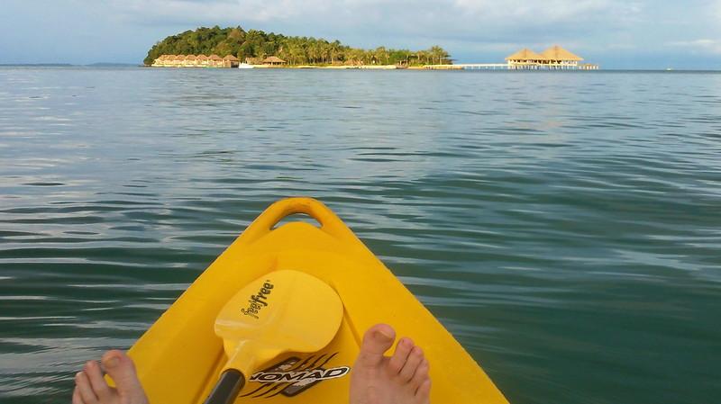 Enjoying a sundown paddle