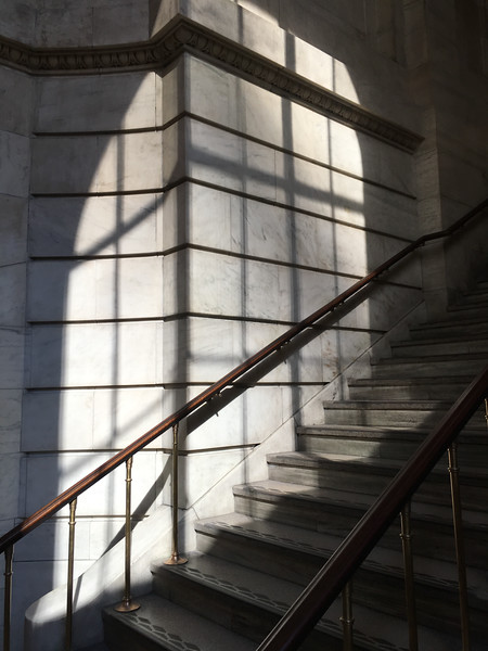 This shaft of light produced a beautiful pattern, shining through the enormous windows of the NY public library.