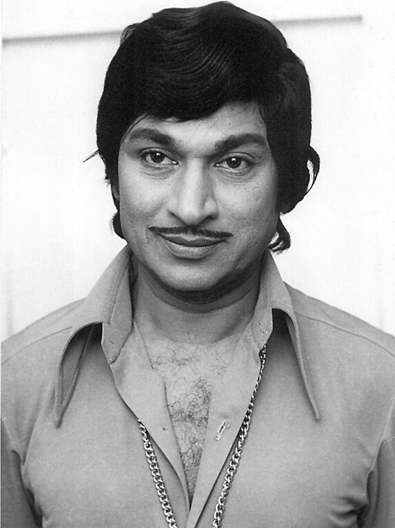 """. Chennai, INDIA:  (FILES) In this file photo, dating from the 1970\'s, leading movie star of Southern India, pictures Rajkumar in his younger days, who along with three relatives was kidnapped late 30 July 2000 by India\'s most wanted dacoit Veerapan from a forest region in the Southern Indian state of Tamil Nadu.  Rajkumar, 77, known as \""""Big Brother\"""" to his legions of fans, died at a private hospital in the southern city of Bangalore, his personal physician Ramana Rao said, 12 April 2006.   STRDEL/AFP/Getty Images"""