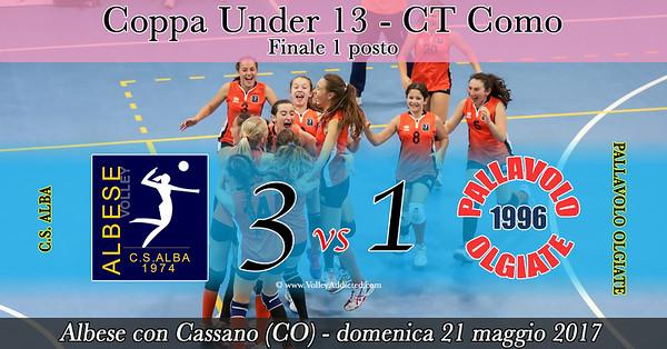 CO-Coppa u13 - Finale 1 posto: GS Alba - Pallavolo Olgiate