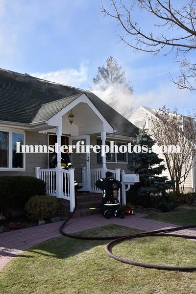 HICKSVILLE FD WILFRED LA HOUSE FIRE 3-30-16