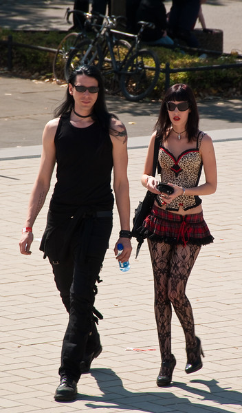 Goth guy and girl