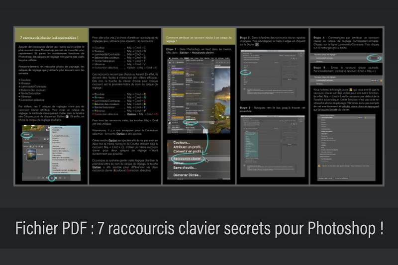 7 raccourcis clavier secrets pour Photoshop : GRATUIT