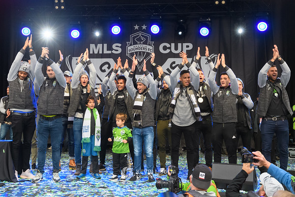 Seattle Sounders MLS Cup parade & rally 2019