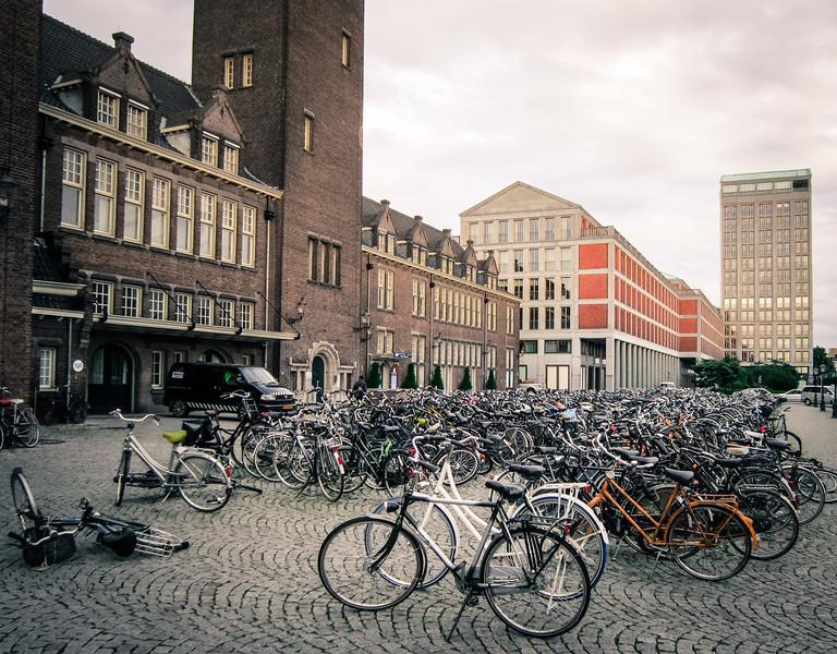 Bikes outside Maastricht station