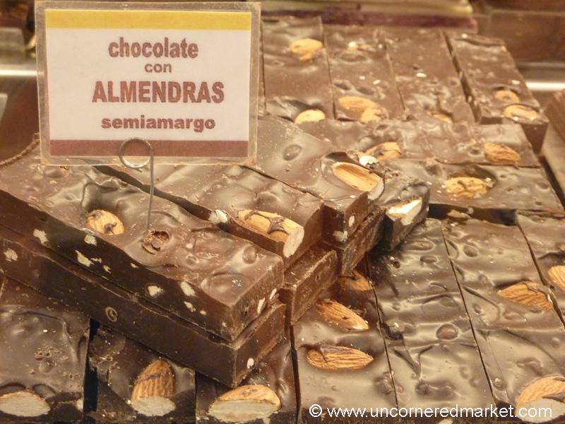 Bars of Yummy Chocolate in Bariloche, Argentina