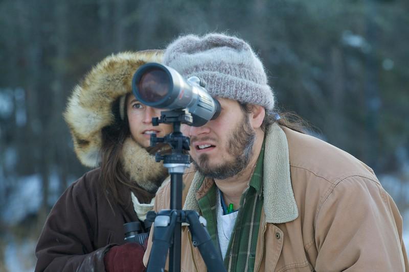 birders looking at lifer Great Gray Owl McDavitt Road Sax-Zim Bog MN IMG_1355.jpg