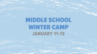 Middle School Winter Camp 2019