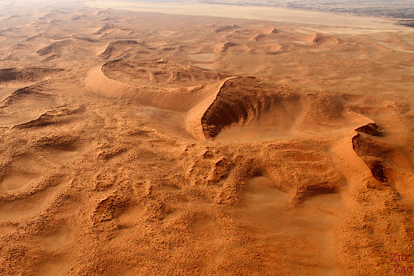 Flying over Sossusvlei sand dunes, Namibia photo 2