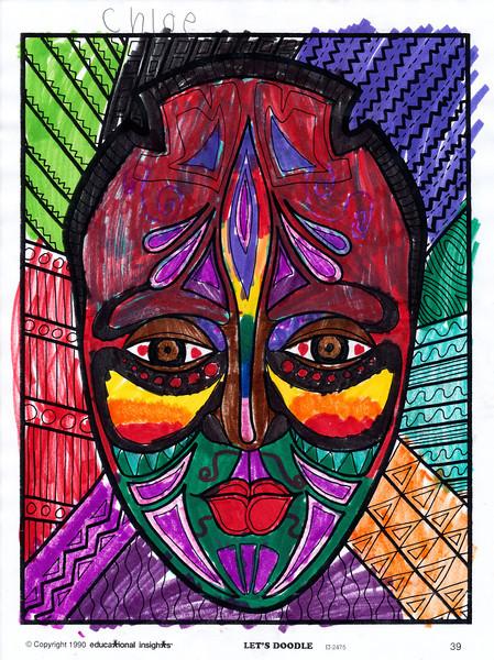 Chloe's artwork  (the coloring) - February 2013