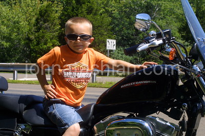 Dante on a Harley Davidson - July 2006