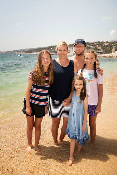 Darcy and family in Cassis