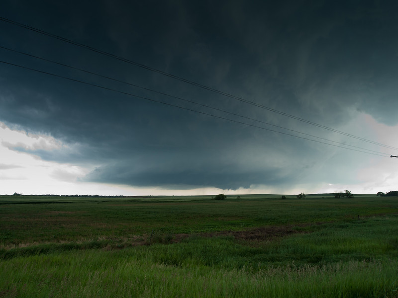 Supercell #3 - funnel cloud forming in the distance