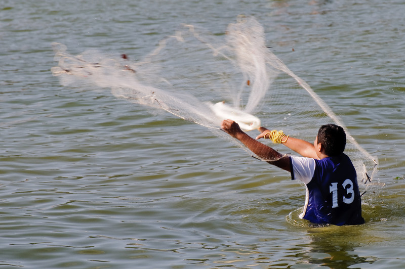 Zihua Net Fisherman