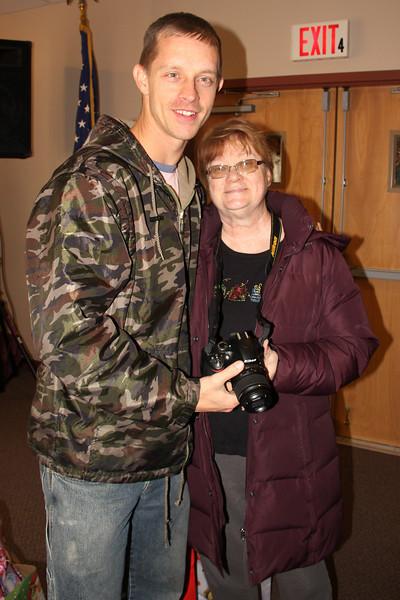 Kathy and Me, Salvation Army, Tamaqua (12-19-2013)