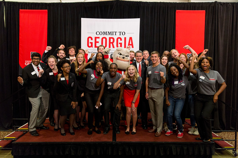Description: Capital Campaign Campus KickoffDate of Photo: 11/10/2016Credit: Andrew Davis Tucker, University of GeorgiaPhotographic Services File: 34401-222The University of Georgia owns the rights to this image or has permission to redistribute this image. Permission to use this image is granted for internal UGA publications and promotions and for a one-time use for news purposes. Separate permission and payment of a fee is required to use any image for any other purpose, including but not limited to, commercial, advertising or illustrative purposes. Unauthorized use of any of these copyrighted photographs is unlawful and may subject the user to civil and criminal penalties. Possession of this image signifies agreement to all the terms described above.