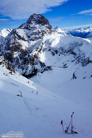 Älpelekopf ski tour attempt, Baad, Kleinwalsertal 2014-01-07