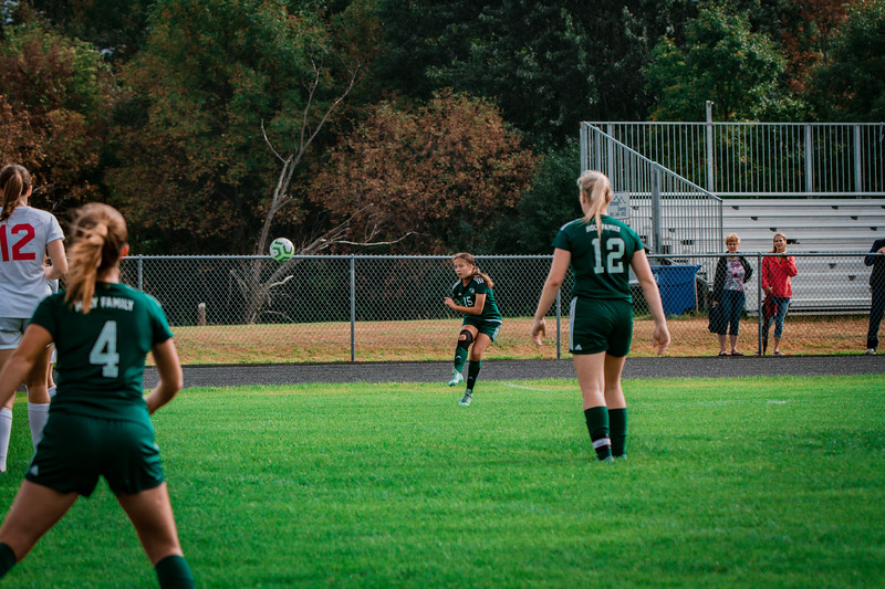 Holy Family Girls Varsity Soccer vs. Shakopee, 9/21/19: Mimi Pavelka '22 (15)
