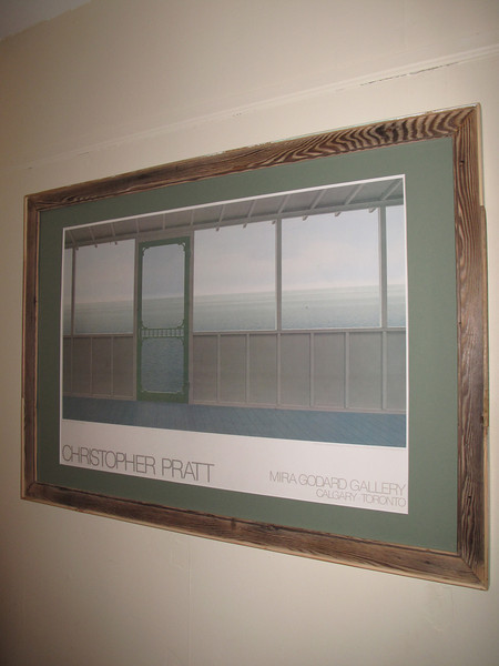 Formally... a well worn Christopher Pratt foam-core print... cleaned up and framed into a piece suitable for a home owner to a serious collector!