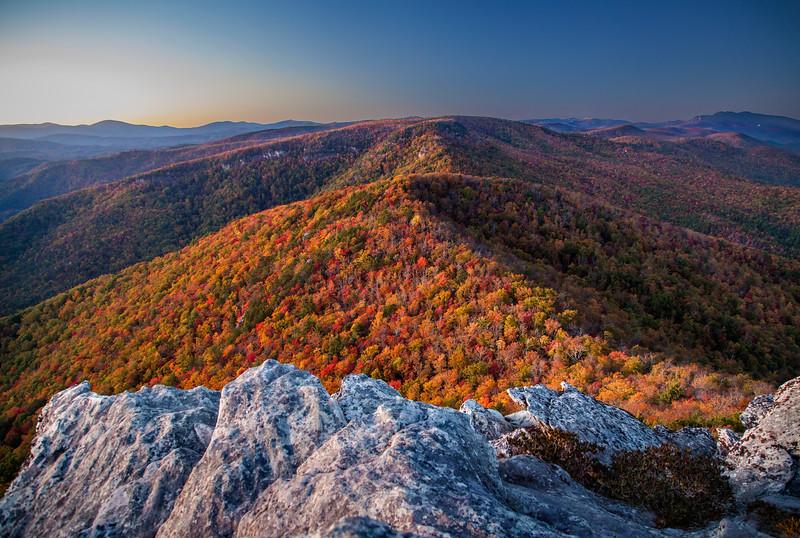 North Carolina Autumn Sunset