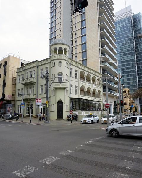 Ginossar Ben Nahum Hotel, built about 1923, restored 2012. First luxury hotel in TA.